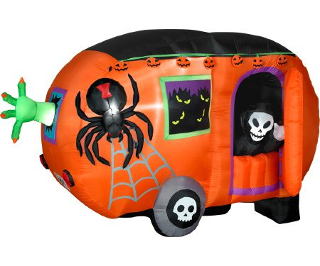 Animated Airblown Halloween Camper