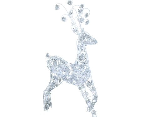 3.5ft Sparkle Snowflake Lighted Reindeer
