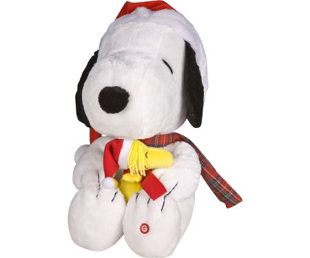 18in Collectible Snoopy and Woodstock with Sound