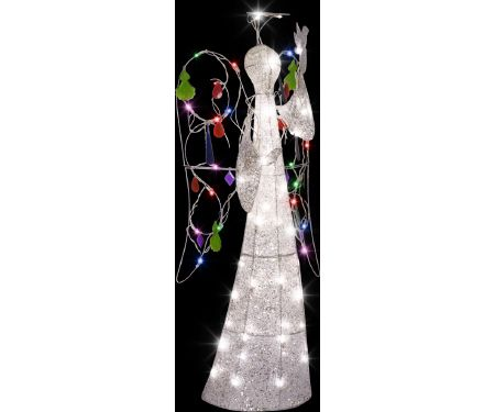 4ft Multi Color Jeweled Crystal Angel