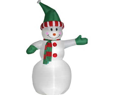 12ft Airblown Snowman with Hat and Scarf