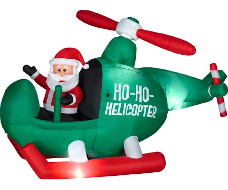 4.5ft Airblown Santa in Helicopter