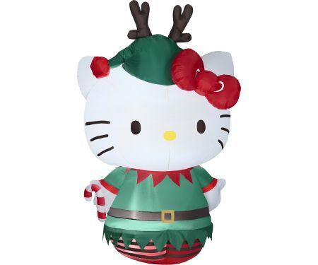 5.5ft Airblown Hello Kitty Elf