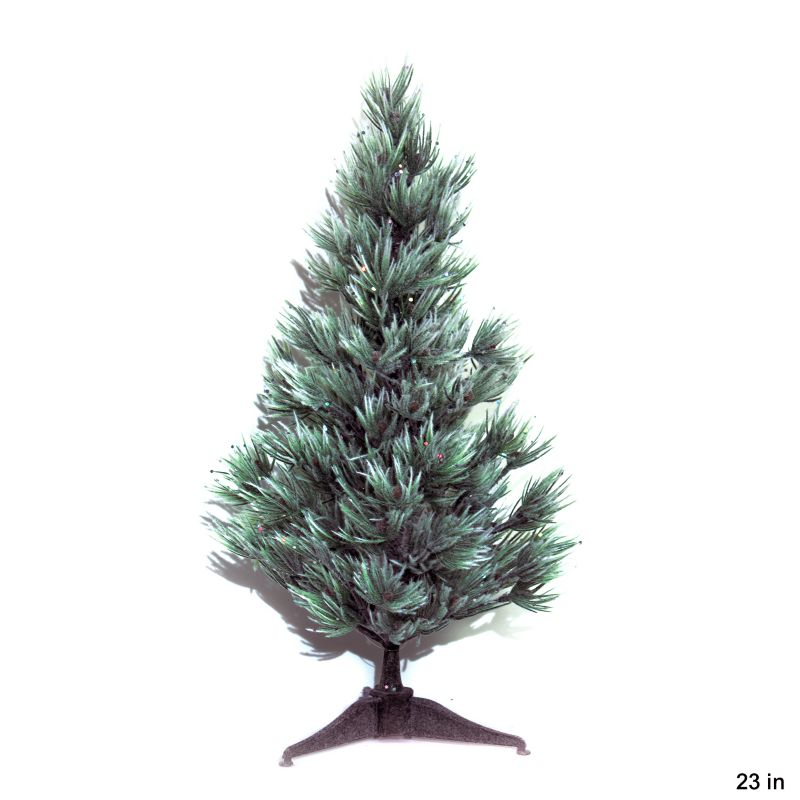 Laser Flocked Atlas Cedar Tabletop Tree 23in