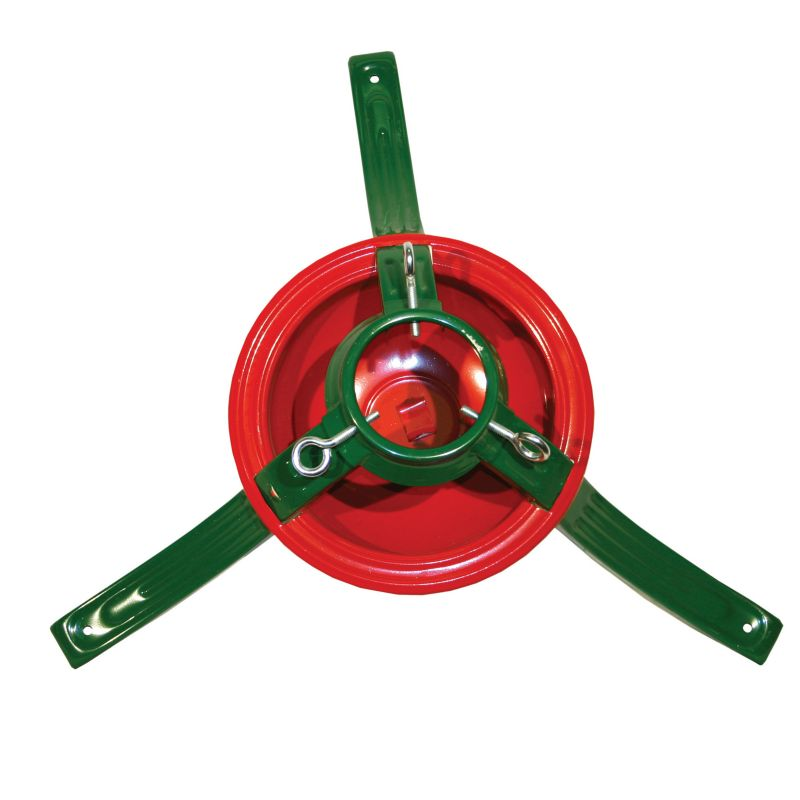 Red/Green Steel Tree Stand 8ft Tree/5.5in Trunk