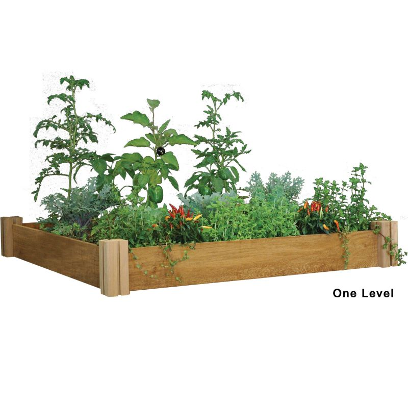 Multi-level Modular Raised Garden Bed One Level