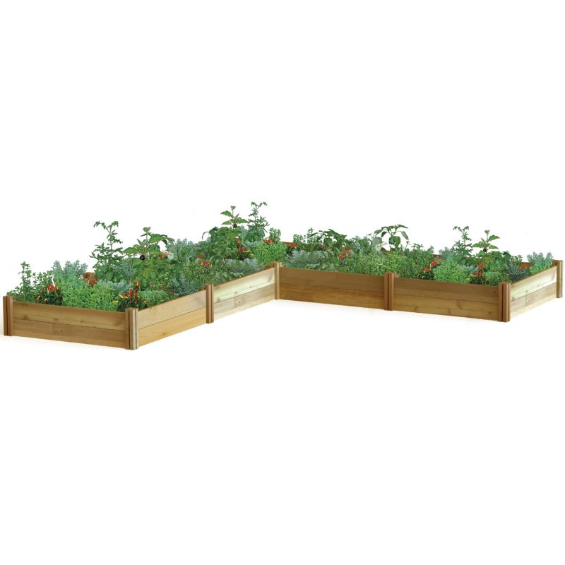 Modular Raised Garden Bed L Shaped