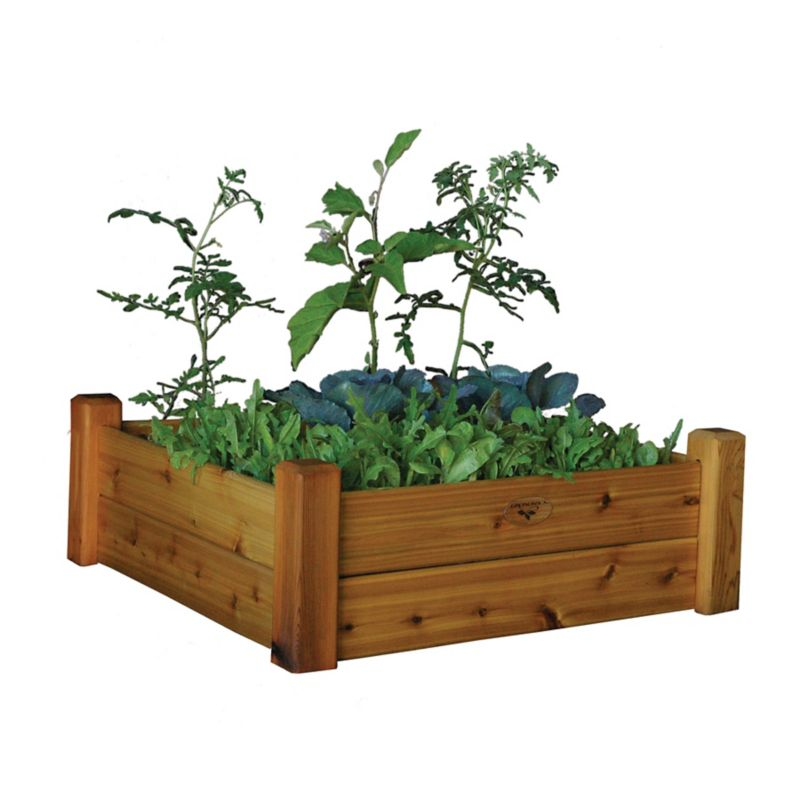 Raised Garden Bed 34x34x13 Safe Finish