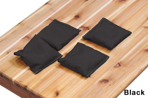 Bean Bags Set of 4 Black