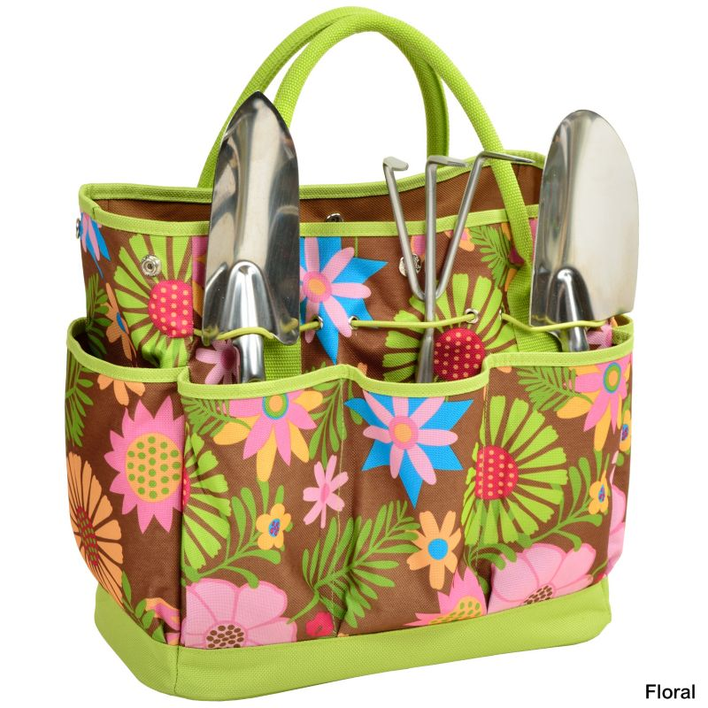 Gardening Tote Set Forest Green