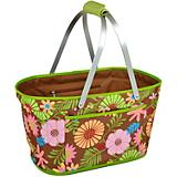 Floral Collapsible Market Basket