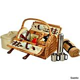 Sussex Picnic Basket w/ Blanket and Coffee