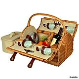 Yorkshire Wicker Picnic Basket for Four