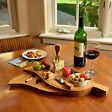 Leaf Cheese Board Set with Bowl