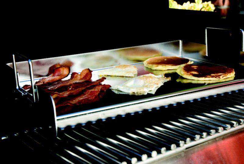 click for Full Info on this Rectangle Stainless Pro Grill Griddle