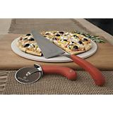 Round Pizza Stone with Cutter And Server / 3PC Set