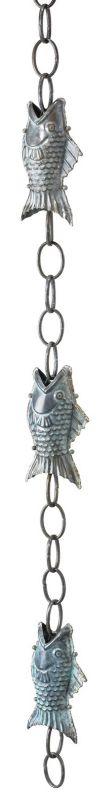 Fish Blue Verde Rain Chain