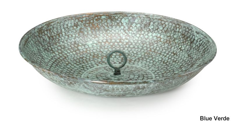 Rain Chain Basin Blue Verde