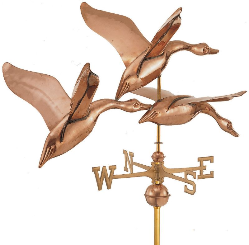 42in 3 Geese in Flight Weathervane