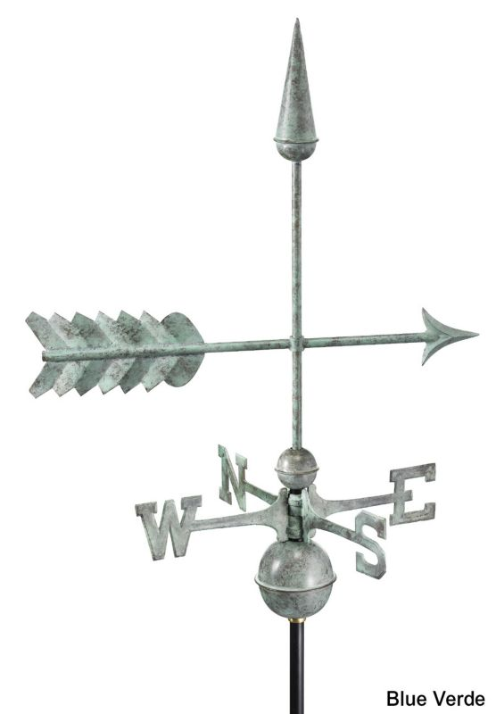 Arrow Weathervane Polished Copper
