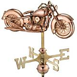 Copper Motorcycle Garden Weathervane