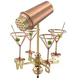 Copper Martini w/ Glasses Weathervane