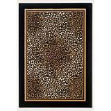 Everest Leopard Ivory Black Rug