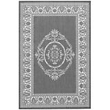 Recife Antique Medallion Gry-Wht Rug