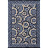 Five Seasons Sundial Cream-Blue Rug