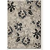 Everest Wild Daisy Grey-Black-White Rug