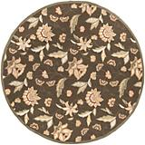 Rain Brown Red Floral Rug