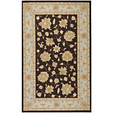 Rain Chocolate Pale Blue Rug