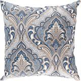 Dusk Blue Olive Gray Pillow