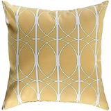 Golden Yellow White Pillow