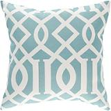 Dark Robins Egg Blue Papyrus Pillow
