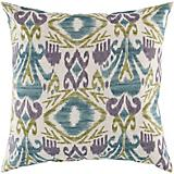 Teal Blackberry Pillow