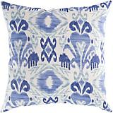 Blue Corn Dark Periwinkle Pillow