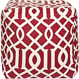 Venetian Red Winter White Pouf
