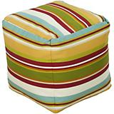 Venetian Red Golden Yellow Pouf