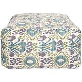 Purple Sage Antique White Pouf