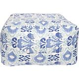 Sea Blue Blue Corn Antique White Pouf