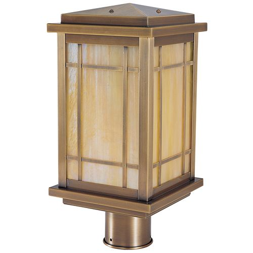 Arroyo Craftsman AVP-6 Avenue Post Light CR BK