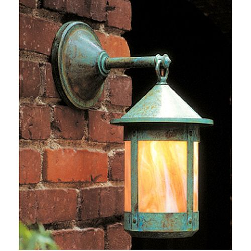 Arroyo Craftsman BB-6W Berkeley Wall Light GW MB