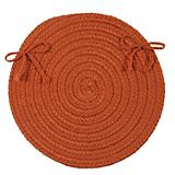 Crescent Orange Chair Pad
