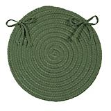 Crescent Moss Green Chair Pad