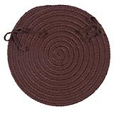 Flowers Bay Brown Chair Pad