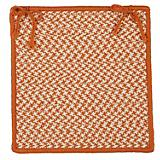 Outdoor Houndstooth Tweed Orange Chair Pad
