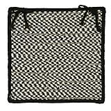 Outdoor Houndstooth Tweed Black Chair Pad
