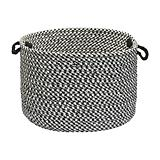 Outdoor Houndstooth Tweed Black Basket