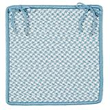 Outdoor Houndstooth Tweed SeaBlue Chair Pad